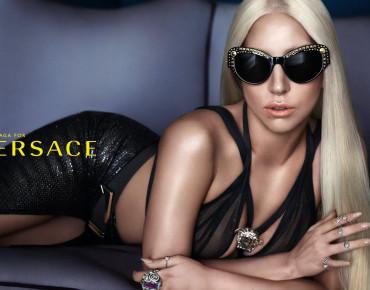 """Фото:""""Lady Gaga и солнцезащитные очки Versace"""""""