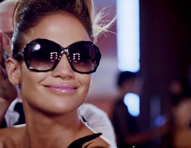 """Фото:""""Солнцезащитные очки Swarovski и Дженнифер Лопес"""""""