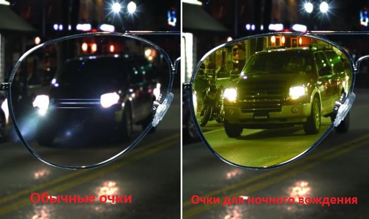 Очки для ночного вождения