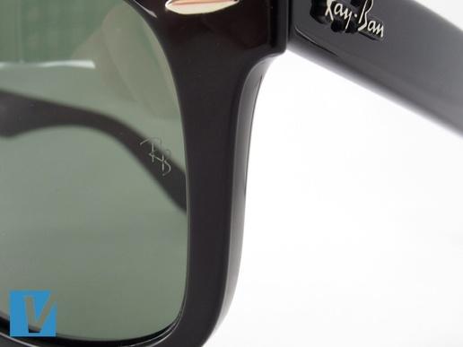 82241a4b9c69 Оригинальные Ray-Ban Wayfarer имеют лазерную гравировку на поверхности линзы