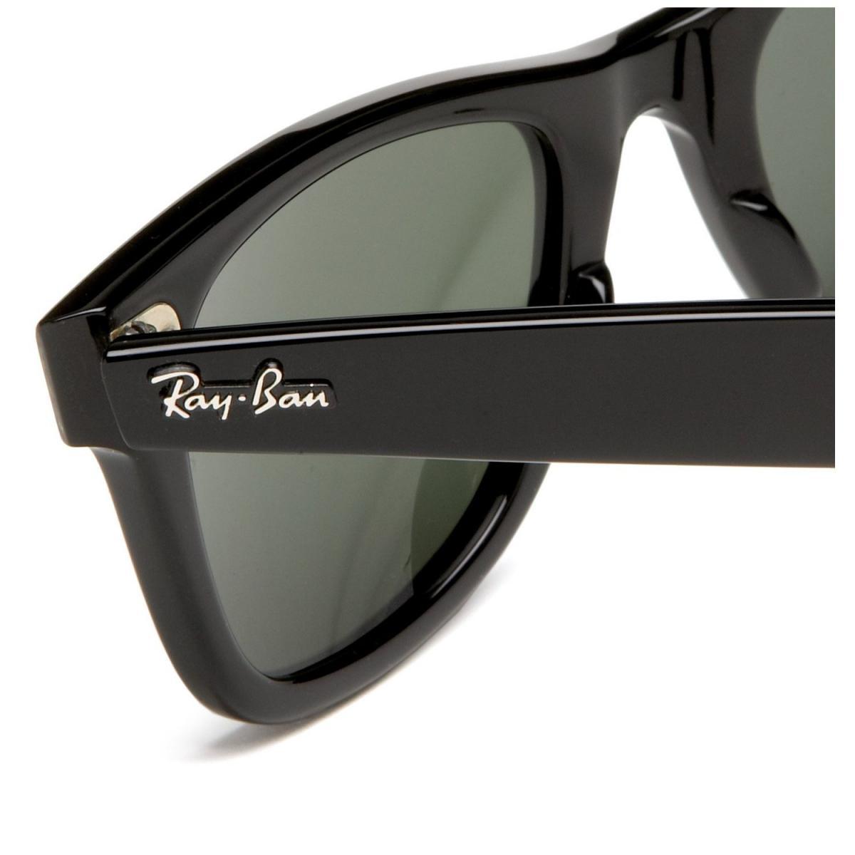 Плашка с логотипом «Ray-Ban» на дужках оригинальных очков Ray-Ban Wayfarer 9503884781110