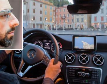 """Фото:""""Разработчики автомобилей Mercedes-Benz желают объединить авто с очками Google Glass"""""""
