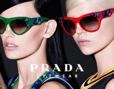 "Фото:""Очки с кристаллами Prada Voice"""